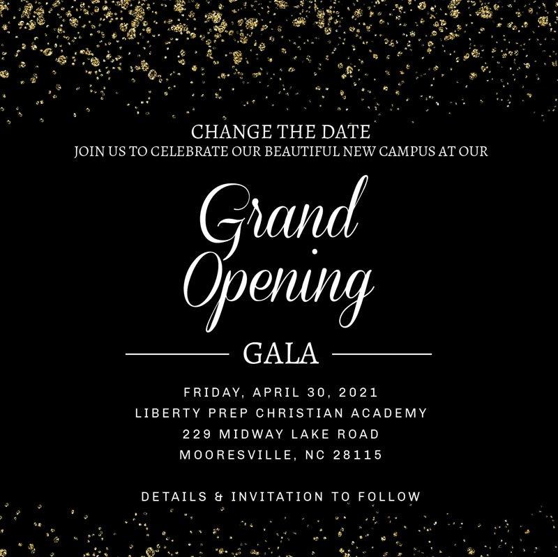 2021 Grand Opening Gala: April 30th
