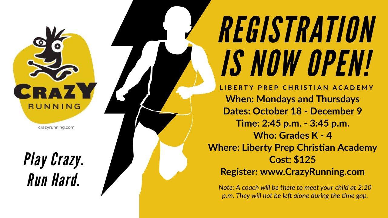 K-5th Crazy Running Club Registration Now Open!